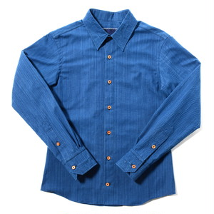 "HAKOU""波光"" 武州藍染 パッチワーク ウッドボタン シャツ Bushu Aizome Patchworks Shirts w/wood buttom"