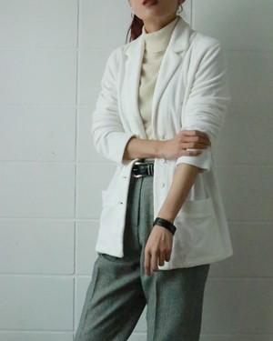 Sonia Rykiel white velour jacket