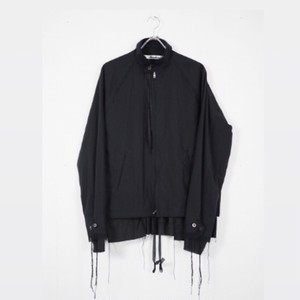 Midorikawa - zip layered shirt jkt  dark navy