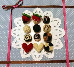「バレンタインチョコ」pdf ダウンロード編み図