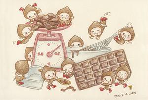 チョコレートの精 ポストカード