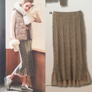 verofonna チュールレイヤードニットスカート