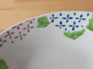 楕円鉢 (菜の花、あじさい、ワイルドストロベリー)