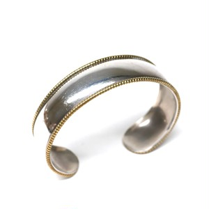 Vintage Mexican Silver & Brass Bangle