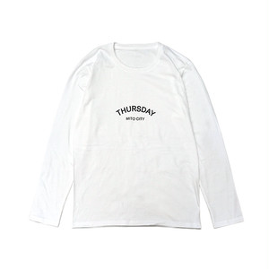THURSDAY / ARCH L/S TEE (White)