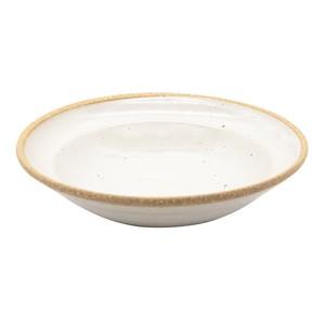 萬古焼 藍窯 パスタ皿 直径21cm 「エスタ Esta」 赤土ホワイト AGM-200096
