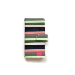 北欧デザイン iPhone手帳型ケース  | svea stripe
