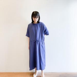 C-71119 Cotton/Rayon Viyella Drawstring Dress