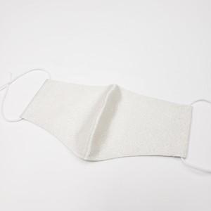 西陣織マスク 大人S(抗菌・抗ウイルスコーテイング済) 白銀砂子
