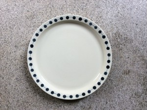 よぎみちこ 7寸皿リム鎬