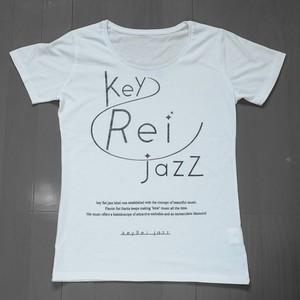 key Rei jazz T-shirts 半袖 白×黒ラメ