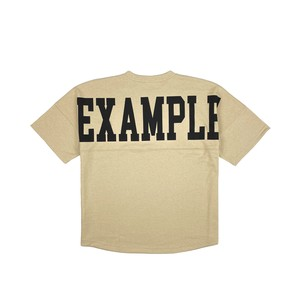 BIG COLLEGE LOGO TEE(JAPAN MADE)/ BEIGE