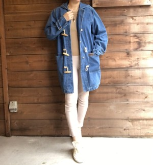 Denim duffle coat 【Vintage product】