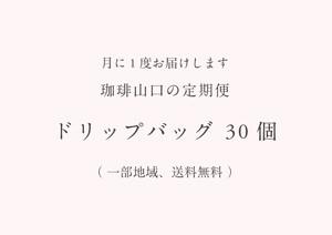 【定期便】ドリップバッグ 30個 (一部、送料無料)