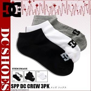 EDYAA03151 ディーシー ショートソックス ソックス 靴下 スニーカーソックス メンズ 男性 プレゼント ギフト SPP DC ANKLE 3PK DC SHOES