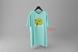 """飛鮫ナミ描き下ろしデザイン""""marimo[no]"""" vket-limited Tシャツ(ミントグリーン)"""