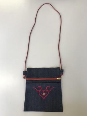 ポシェット(刺繍 赤)  Pochette(embroidery red) 【さっぽろアイヌクラフト】