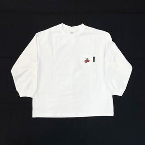 Groovy Colors /  天竺 CHERRY 長袖 POCKET BIG Tシャツ (90~120)