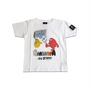 BARBAPAPA×gramo コラボ Tシャツ「pass-T」(ホワイト/T-018) ※110cm~150cm