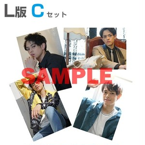 L版生写真4枚セット【C】