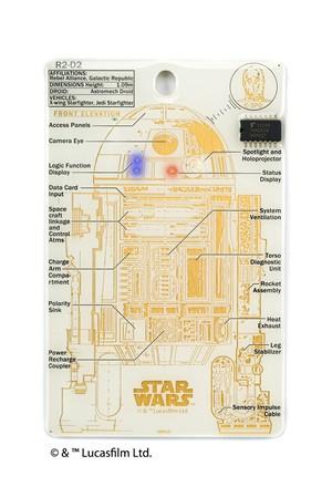 FLASH R2-D2 基板アート ICカードケース 白 【名入れ無料サービス実施中】