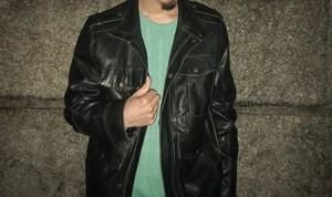 Levis leather bush jacket