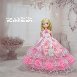リカちゃんパーティドレス(ピンク2)
