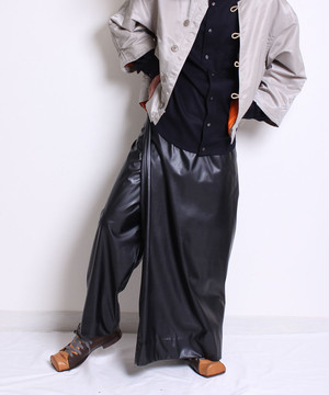 【予約商品 10月入荷予定】Wrap skirt pants -black<LSD-BA3P4 B>