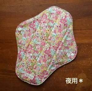 布ナプキン (夜用) ☆ ピンク花柄