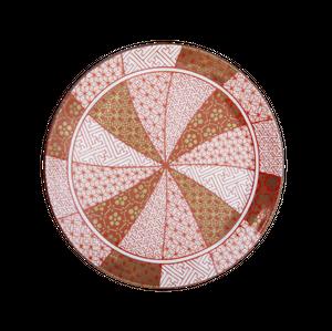 【九谷焼】豆皿 赤絵金襴手