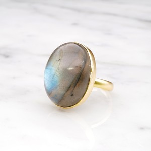 SINGLE BIG STONE RING GOLD 128