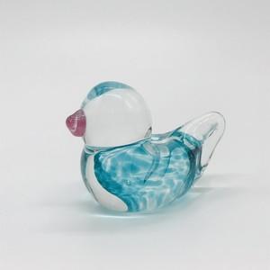 【コトリガラス くりまり】愛鳥羽根スタンド 小⑥