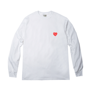 love will give me a better soul LS tee in white