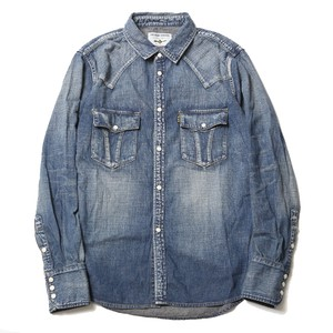 ROAD JACK DENIM SHIRTS<VINTAGE WASH> (INDIGO) / RUDE GALLERY BLACK REBEL