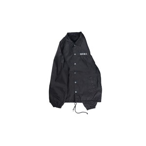 "[限定品]MANIAC BOTH LOGO  OIL WASH COACHES JACKETS/BLK/""Limited Edition"""