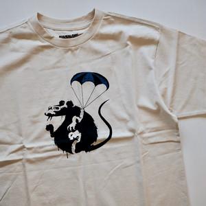 【BRANDALISED】BANKSY バンクシー Parachute Rat T-shirt