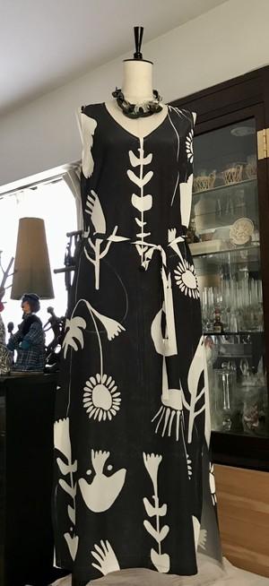 プリントドレス Jardin nostalgique