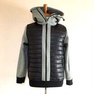 Switch Quilting Zip Parka Jacket Light Gray