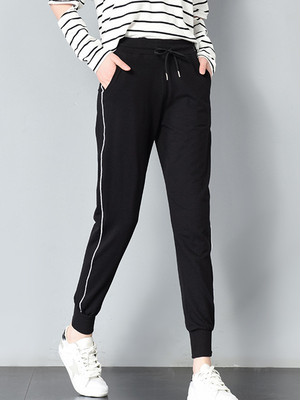 【bottoms】Elastic waist exercise casual pants