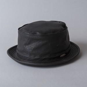 """leather porkpie hat """"PIKEY"""""""