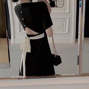 ladyback ribbon dress