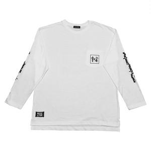 """NOI5E"" ロングスリーブTシャツ(ブロックノイズ)(ホワイト)"
