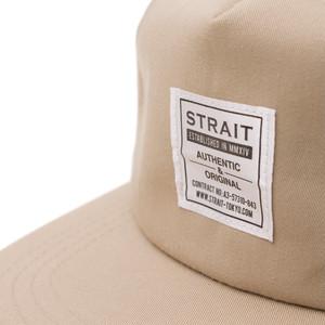 TAG 5PANEL SNAPBACK CAP #BEIGE