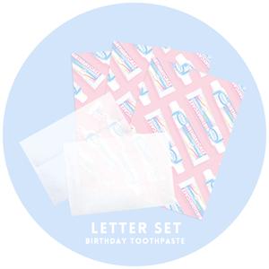 BirthdayToothpasteレターセット