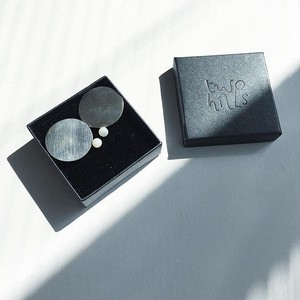Eclipse Earrings – Silver + Mother of Pearl