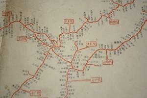 中国鉄路路线示意图 1974年