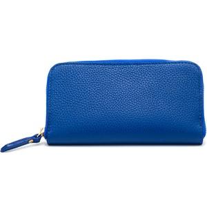 イタリア牛革 財布 ブルー