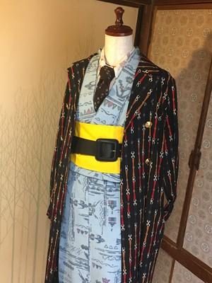 ストリートKimonoセット ロンドン写真集でモデルが着用した着物