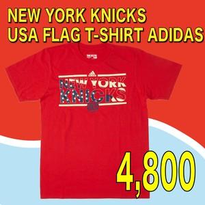 NEW YORK KNICKS / USA FLAG T-SHIRT  ADIDAS