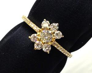 【送料無料】【仕上げ済み】K18ダイヤモンドリング
